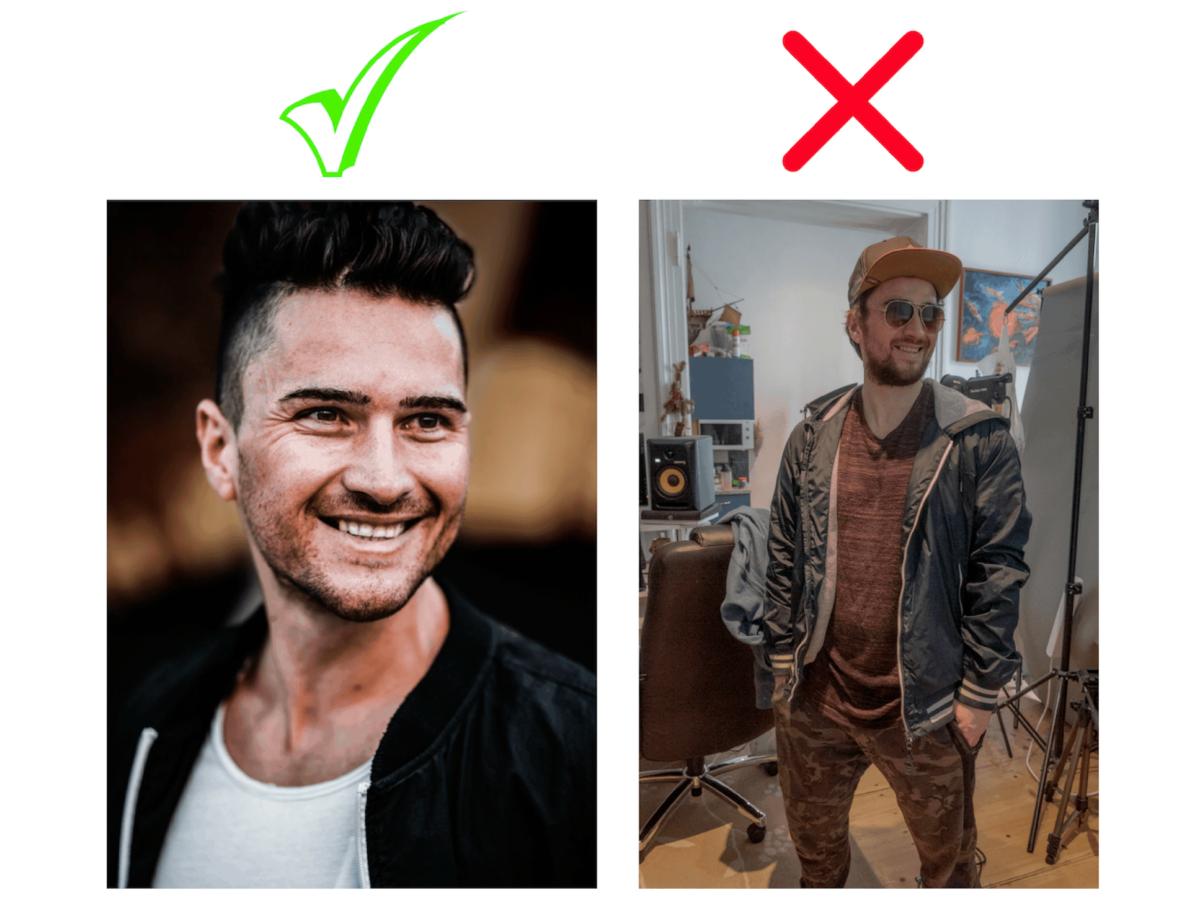 Keine Tinder Dates profilbild vergleich