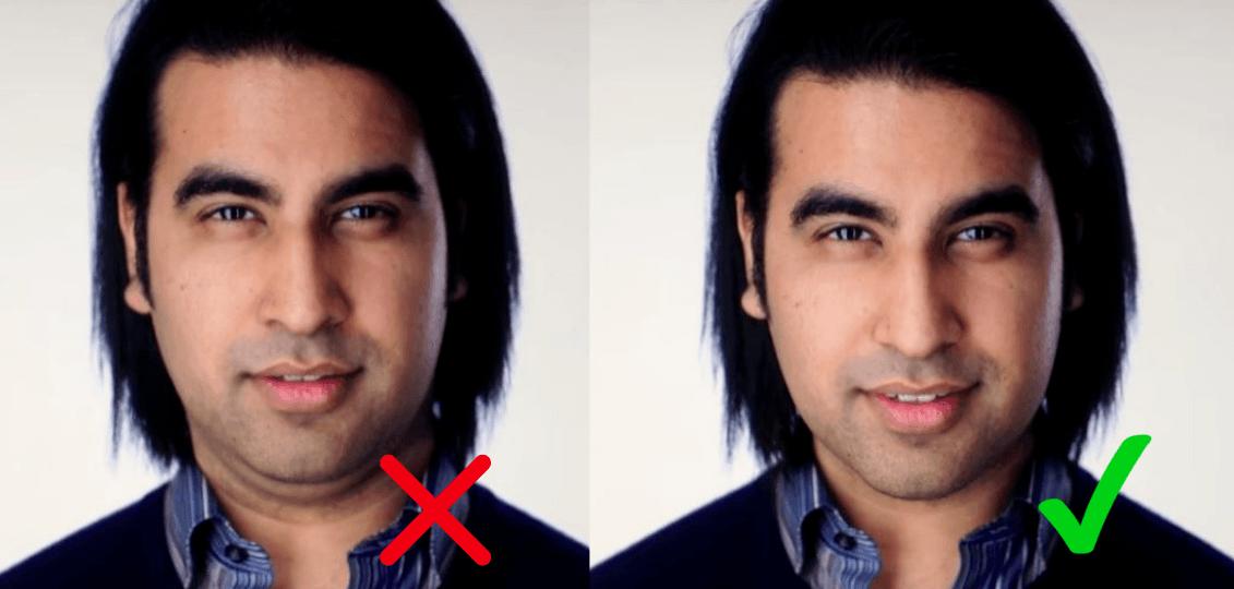 tinder profilbilder optimieren  jawline trick attraktiver aussehen 2