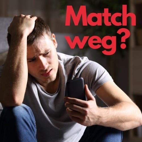 tinder Match weg vorschaubild