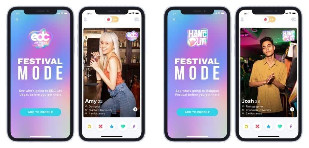 tinder festival modus neue funktion