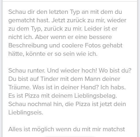 profiltext dating mann