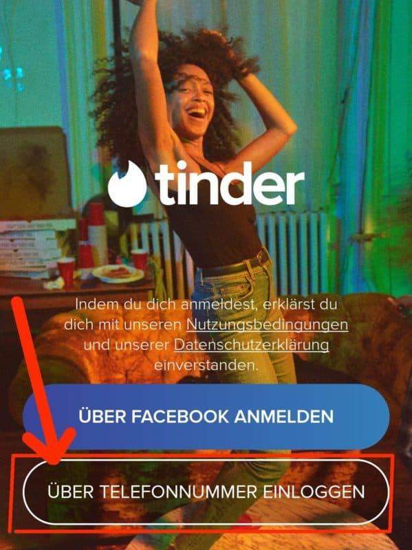 Tinder ohne Facebook anmelden