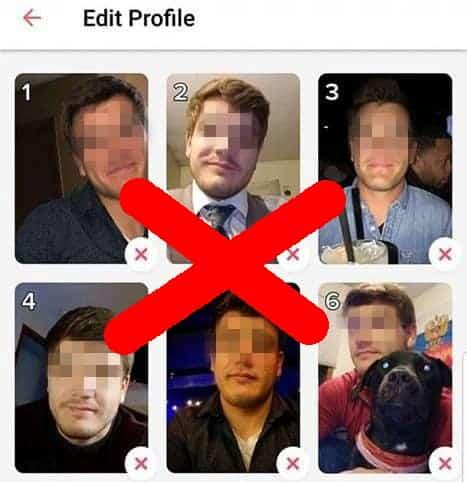 Beispiel für Tinder Profi das nur Aussehen zeigt und dadurch keine Likes bekommt