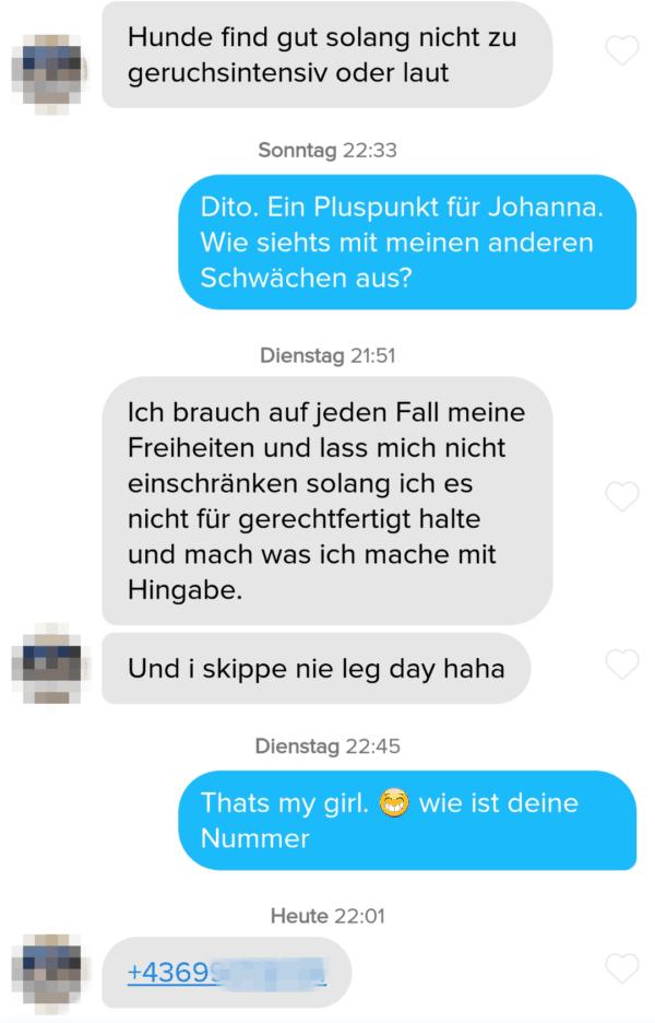 beispielchat flirt-technik punkte verteilen