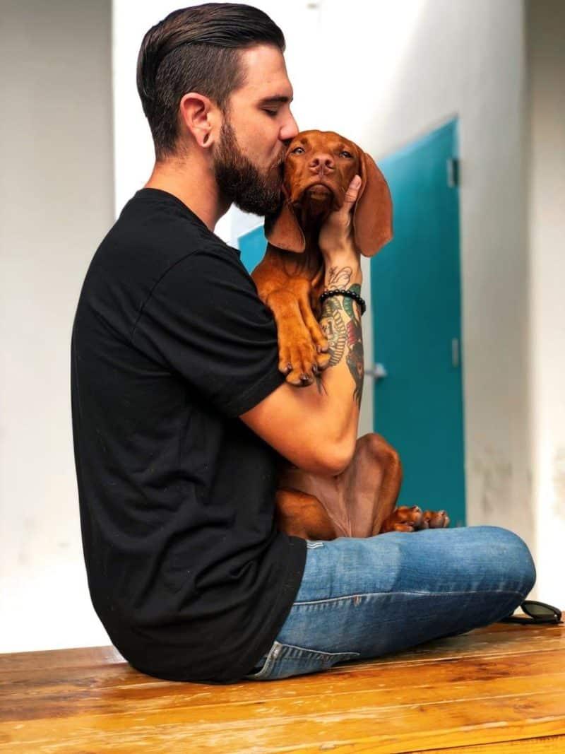 Beispielfoto Mann mit Hund bringt mehr Matches