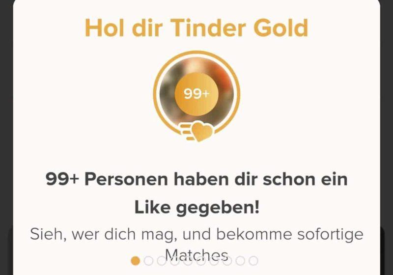 Likes sehen mit Tinder Gold