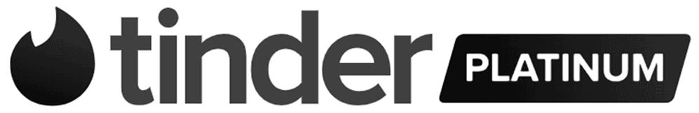 So sieht das Tinder Platin Logo aus