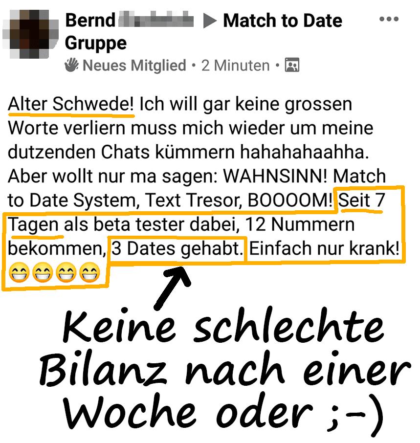 Erfahrungsbericht von Bernd zur TinderAcademy Match to Date