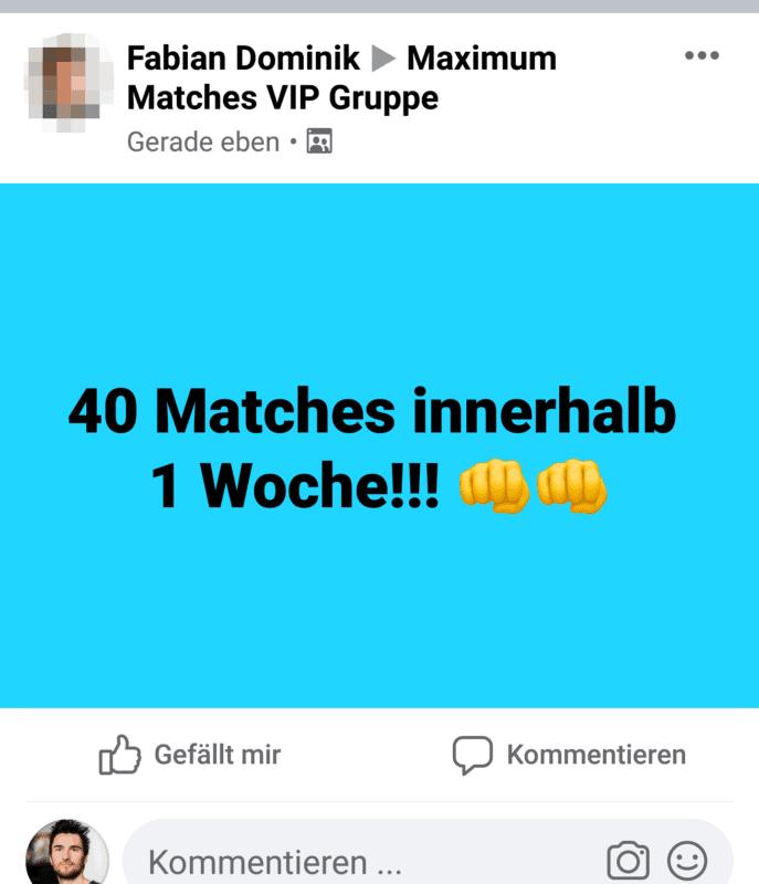 Fabian bekam 40 Matches in 1 Woche mit der TinderAcademy